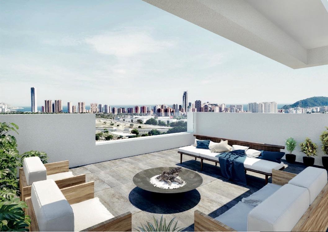 """Sunrise Bay Finestrat"", New construction villa overlooking the skyline of Benidorm"