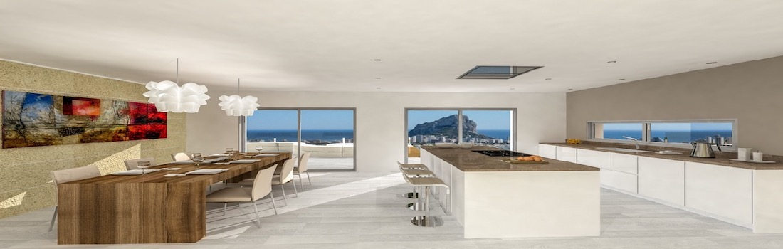 For sale modern villas in Calpe