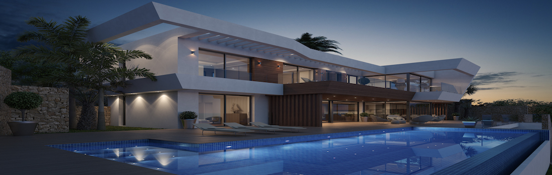 Newly built houses with minimalist design Costa Blanca