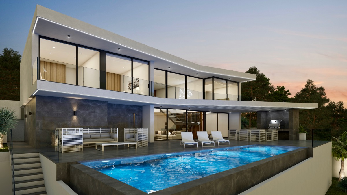 Bespoke villas and newly built villas of modern design directly from the builder in Moraira
