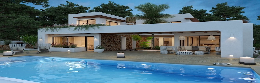 Villas with garden and pool for sale on the Costa Blanca