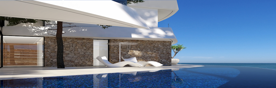 Newly built houses with minimalist design Calpe