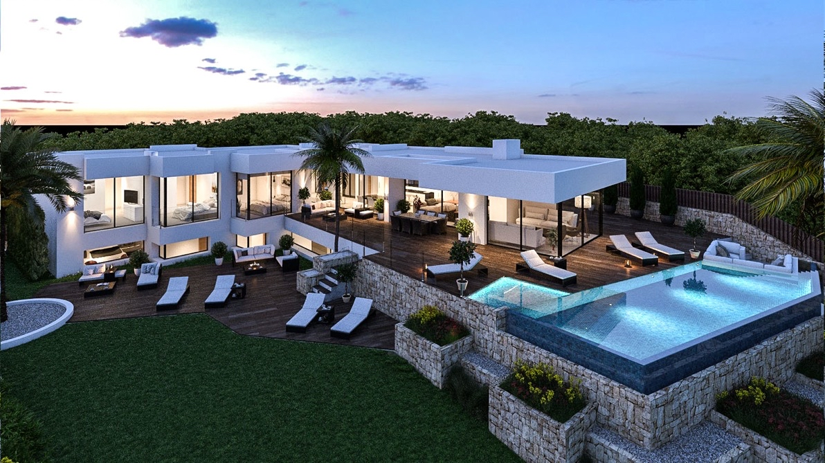 Luxury homes and luxury villas for sale in Benissa on the Costa Blanca of new construction and second hand