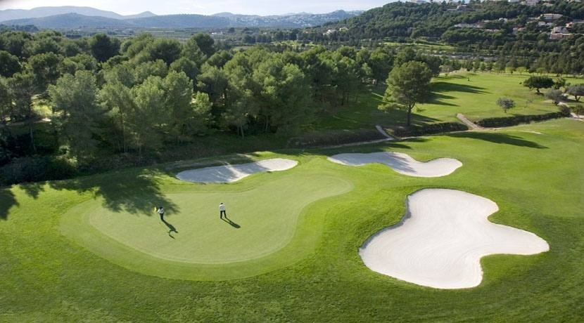 Urbanization La Sella Golf Resort on the Costa Blanca North of Alicante in Spain