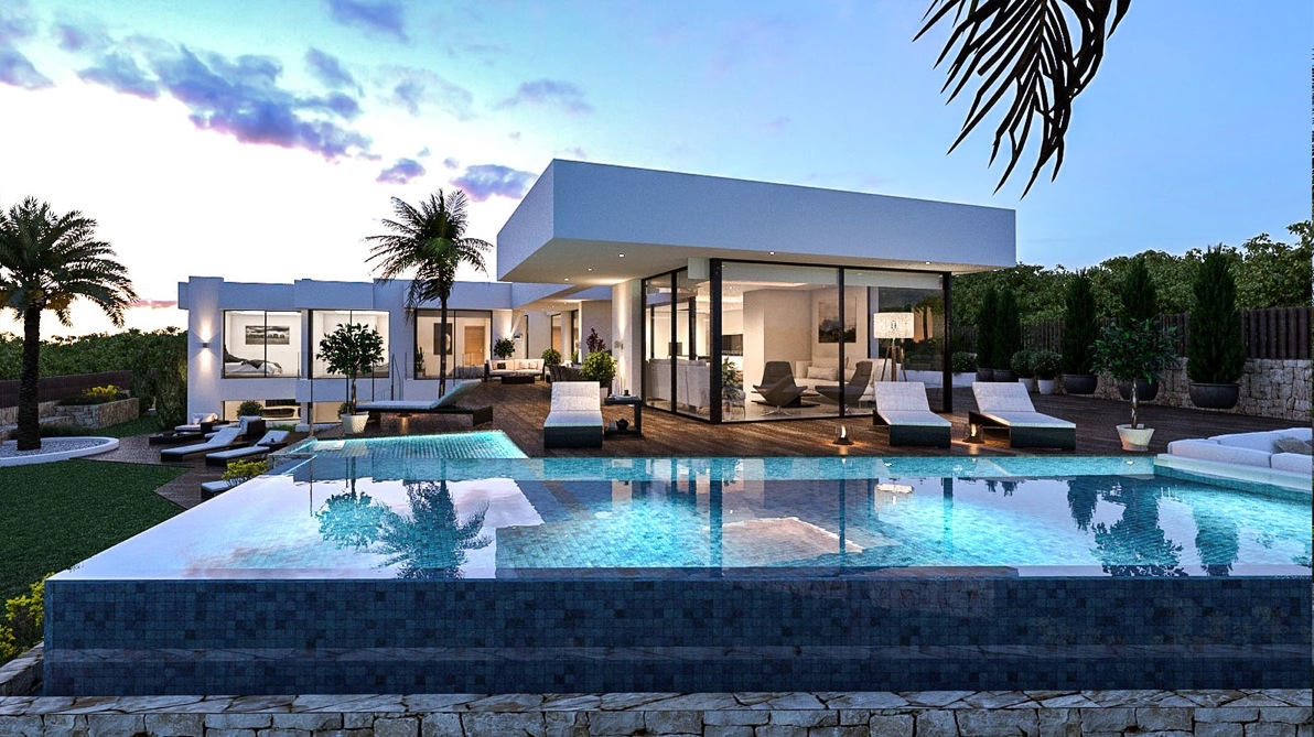Luxury properties for sale in Benissa on the Costa Blanca, modern new luxury houses, luxury villas, luxury homes