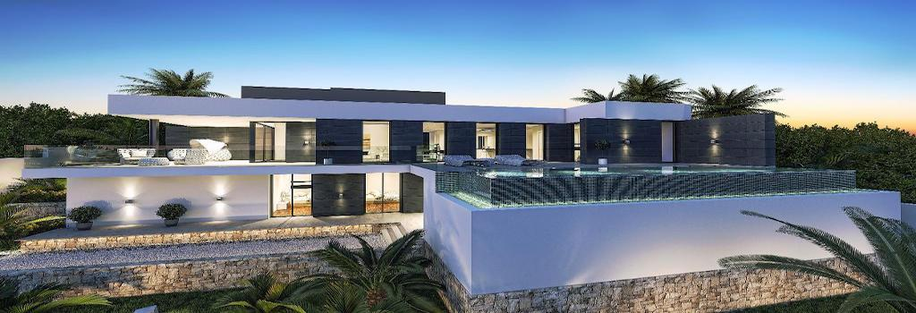 Newly built houses with minimalist design Moraira