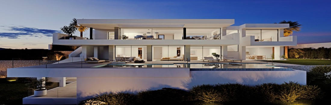 Newly built houses with minimalist design Benitachell