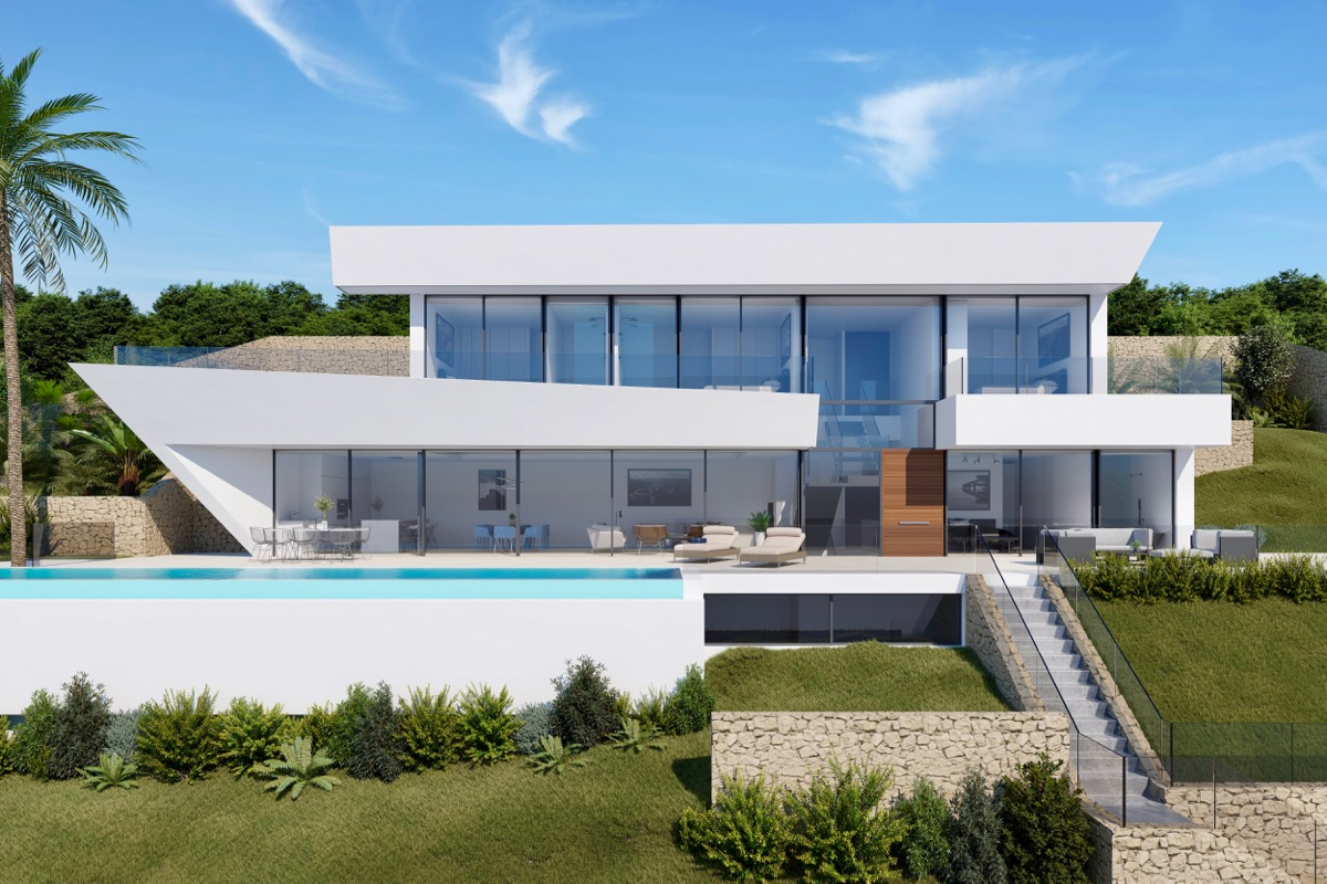 Construction of luxury villas in Costa Blanca, Moraira, Benissa, Dénia, Jávea, Calpe, Finestrat, Benidorm, Oliva Nova and Altea