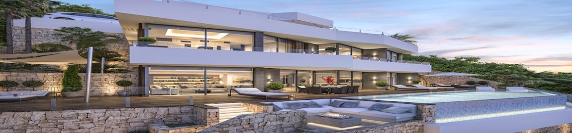 Newly built villas with a building license in Dénia