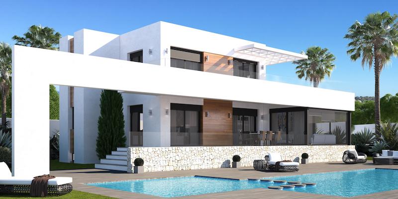 Viviendas e inmuebles modernos, minimalistas y contemporáneos como chalets, villas y apartamentos en Dénia