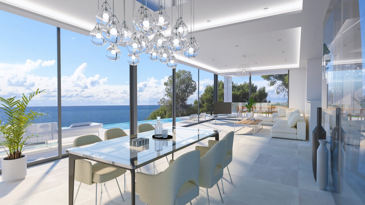 Luxury houses and luxury villas for sale in Moraira on the Costa Blanca of new construction and second hand
