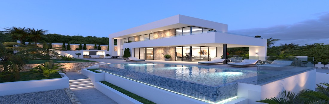 Newly built minimalist villas Calpe