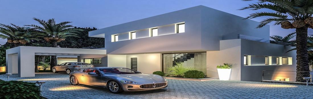 Newly built houses with minimalist design Dénia