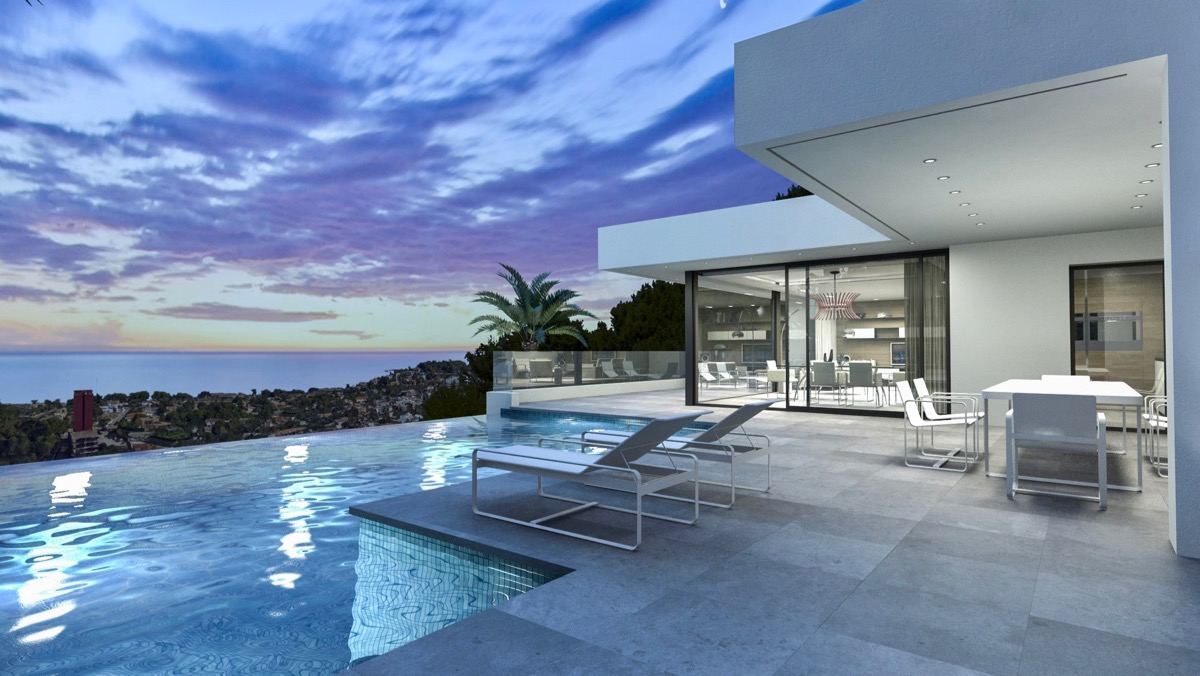 Luxury properties for sale in Dénia on the Costa Blanca modern new construction, luxury villas, luxury homes, luxury apartments and luxury penthouses
