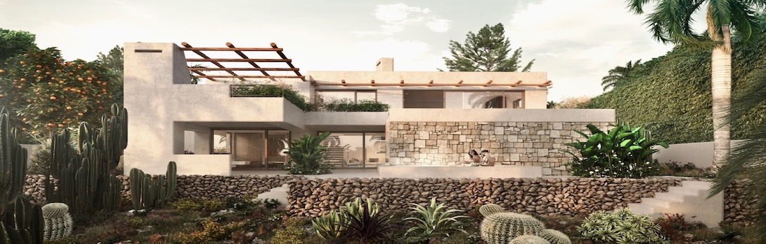 Modern houses with garden for sale on the Costa Blanca