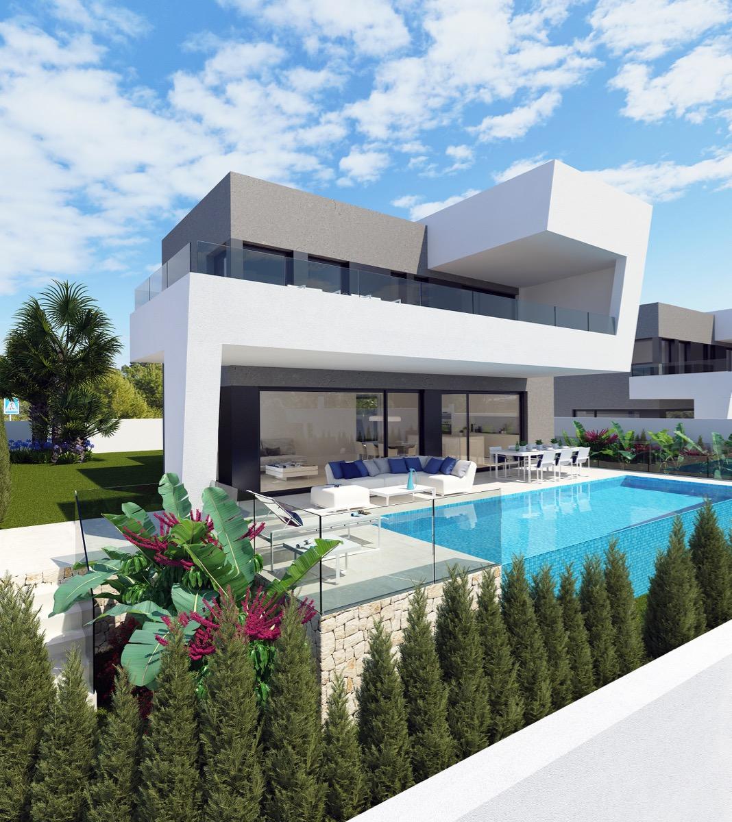 Casas de obra nueva en venta en Polop de la Marina, Villas de nueva construcción en venta en Polop de la Marina, proyectos de obra nueva en venta en Polop de la Marina
