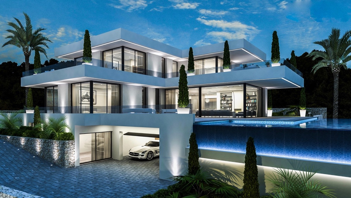 Houses and projects of new construction in Dénia of modern design and building plots in Dénia
