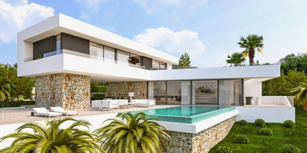 Modern new built villa with sea views in J...