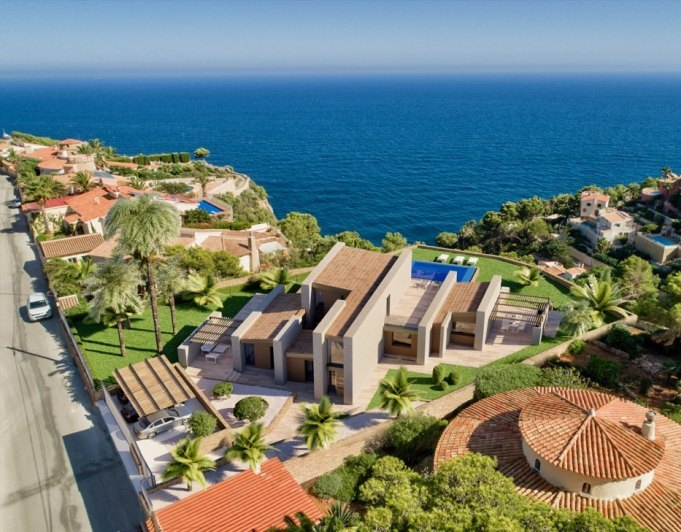 Modern new built villa with sea views in B...