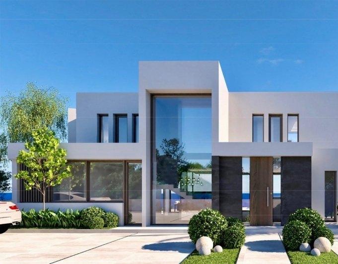 Neue Luxus-Villa moderne Konstruktion mit ...