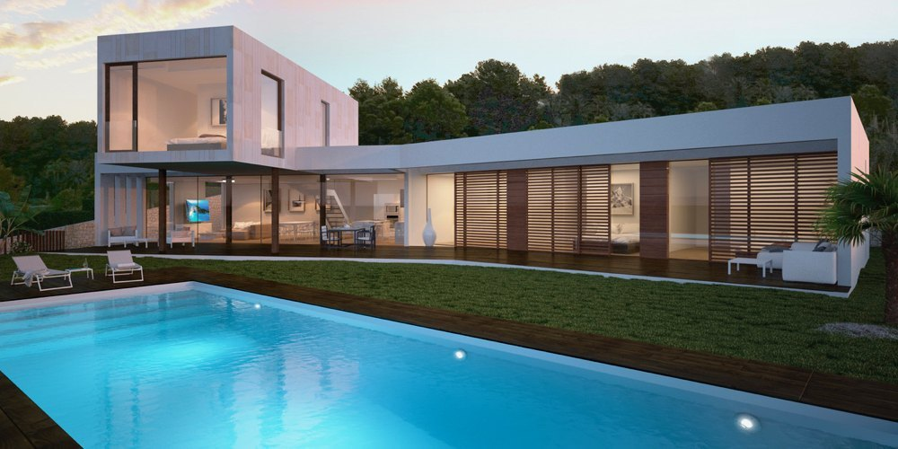 Modern new build villa for sale in Javea w...