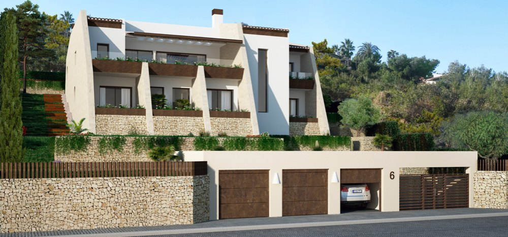 Modern new build villa in Jávea with sea v...