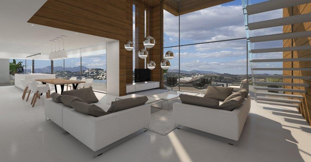 Villa moderna de obra nueva en venta en Moraira en La Arnella - Paichi