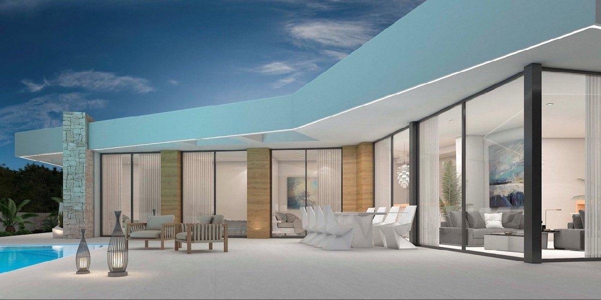 Villa moderna de obra nueva en venta en Los Molinos Benitachell