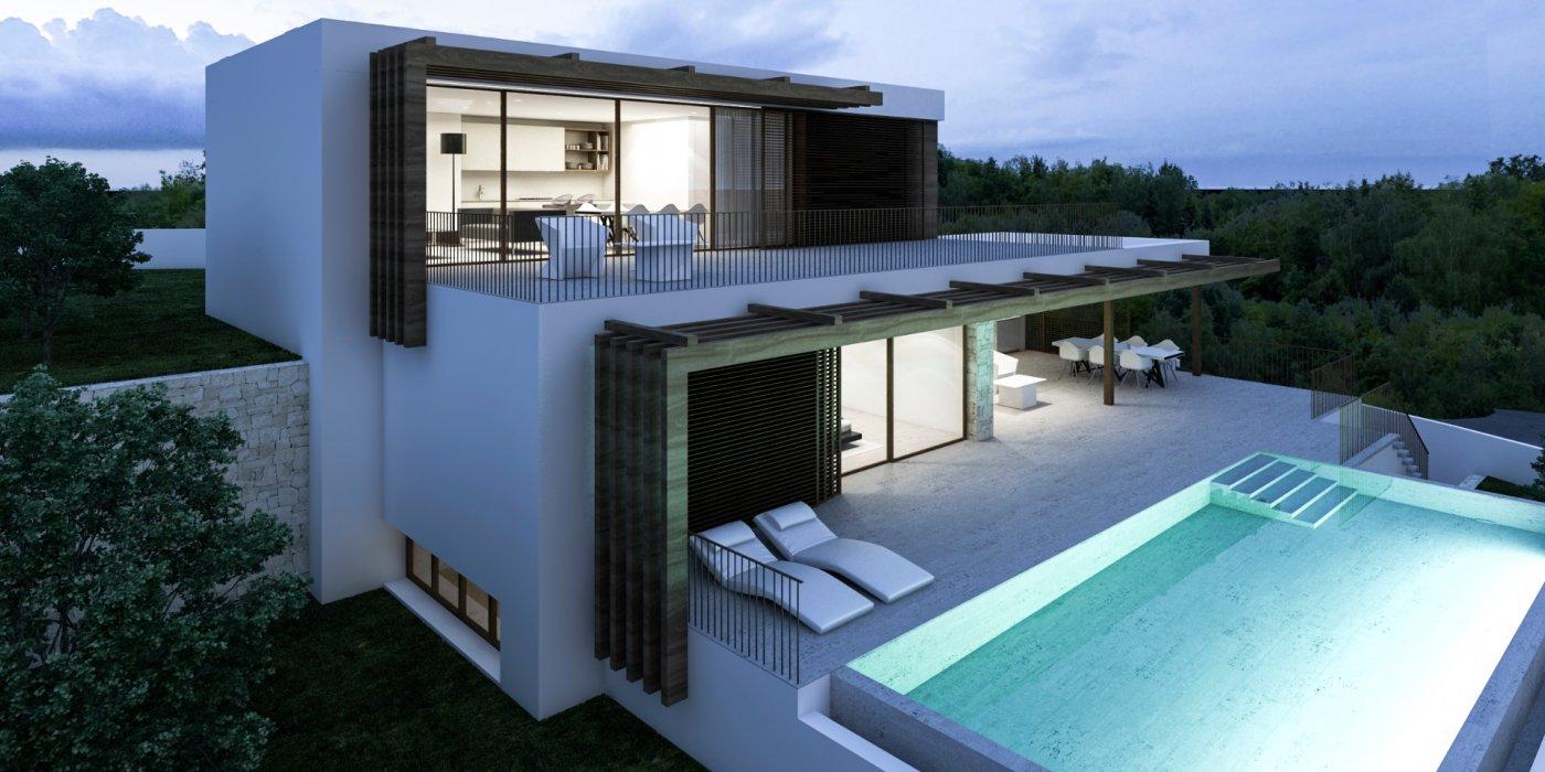 Moderne nieuwbouw villa te koop in Benissa met uitzicht op zee La Fustera