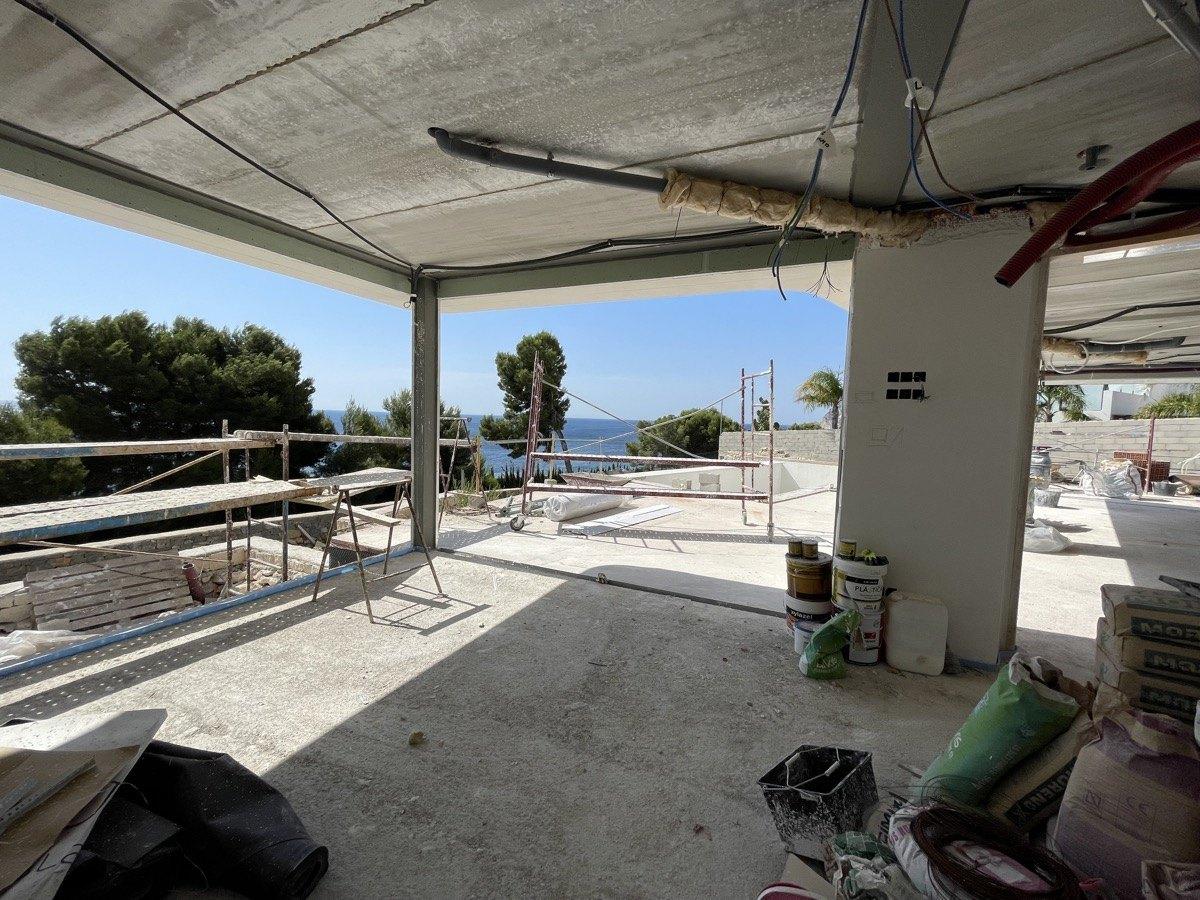 Villa moderna de obra nueva en venta en Benissa La Fustera con vistas al mar
