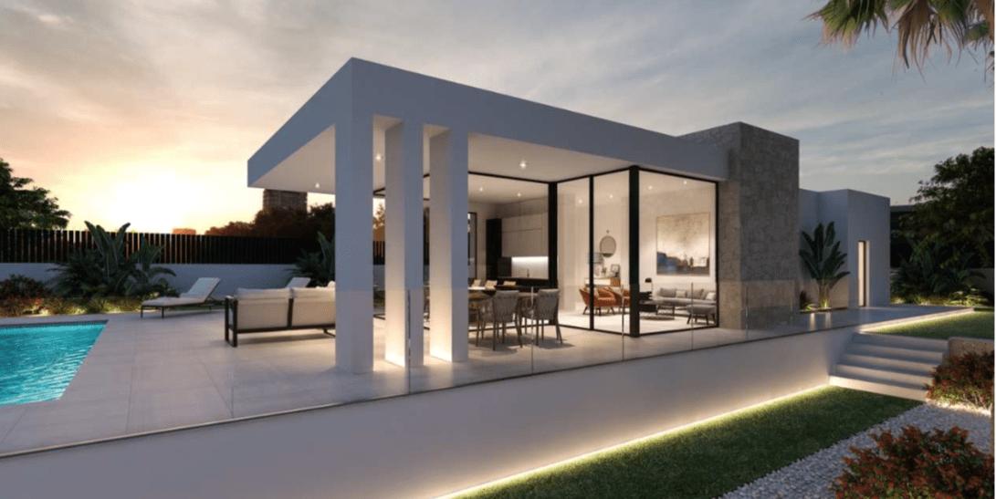 Villa moderna de obra nueva en venta en Denia