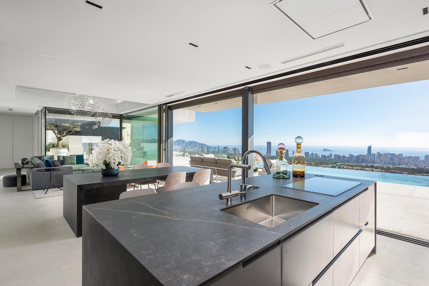 Modern new build villa for sale in Finestrat Sierra Cortina with sea views